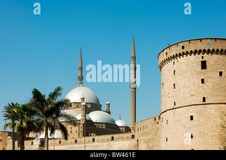 Aegypten, Kairo, Zitadelle mit Mohammed Ali Moschee (Alabastermoschee) - Stock Photo