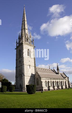 St Margarets church, Bodelwyddan, North Wales - Stock Photo