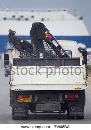 Greek economy people working Greece - mobile crane on the back of a lorry - Stock Photo