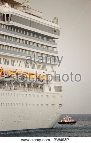 Greek ship cruise liner Greece cruise ship illustration - Stock Photo