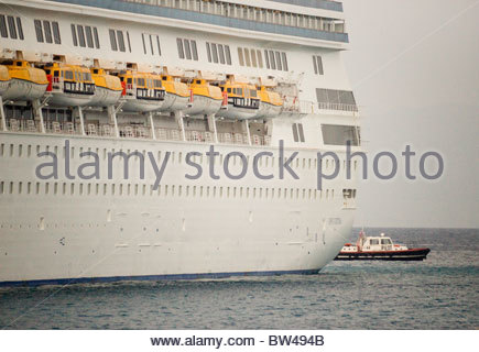 Greek ship cruise liner Greece - Stock Photo