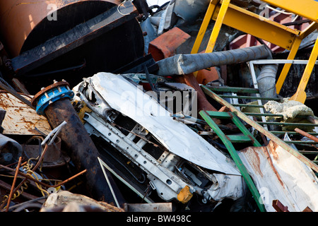 Pile of metal waiting for recycling - Stock Photo