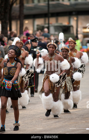 Mighty Zulu Nation Theatre Company, sponsored by Standard Bank Group - Stock Photo
