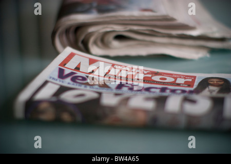 Daily UK tabloid newspaper, Daily Mirror - Stock Photo