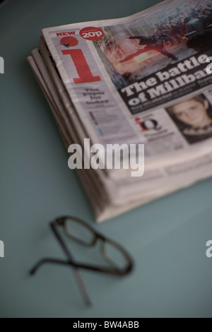 Daily UK tabloid newspaper, i independent, - Stock Photo
