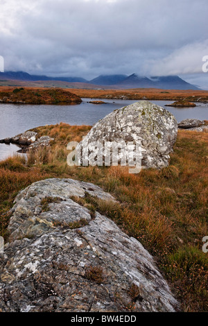 The Twelve Pins from Conga Lough, Connemara, County Galway, Connaught, Ireland. - Stock Photo