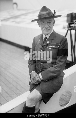 Vintage photo c1926 of Robert Baden-Powell (1857 - 1941) - the British Army General who was the founder of the Scout - Stock Photo
