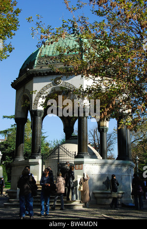 ISTANBUL, TURKEY. The Kaiser Wilhelm II fountain in the Hippodrome in Sultanahmet district. 2010. - Stock Photo