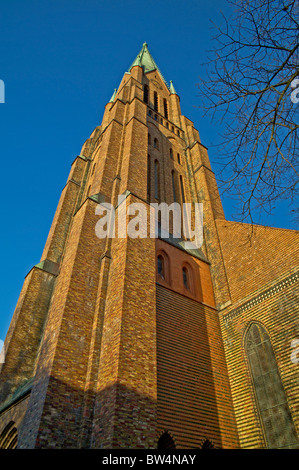 Tower of the Cathedral in Schleswig, Northern Germany, Schleswig-Holstein; Turm des Domes zu Schleswig, - Stock Photo