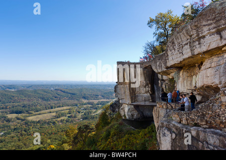 Lover's Leap in Rock City Gardens on Lookout Mountain, Georgia, near Chattanooga, Tennessee, USA - Stock Photo