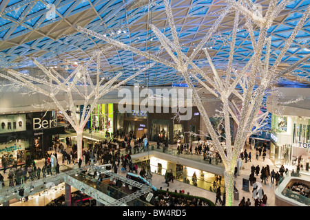 Central Atrium - Westfield Shopping Centre - Shepherd's Bush - London - Stock Photo
