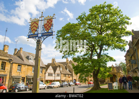 High Street, Chipping Campden, Cotswold, Gloucestershire, England, UK - Stock Photo