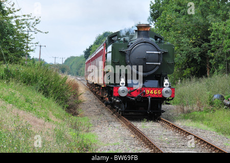 Steam train - Mid Norfolk Line - Stock Photo