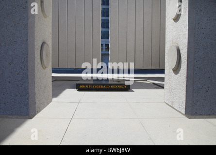 JFK Memorial near Dealey Plaza, Dallas Texas - Stock Photo