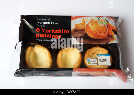 Sainsbury's Yorkshire puddings - Stock Photo