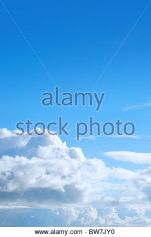 Blue sky and puffy cloud - Stock Photo