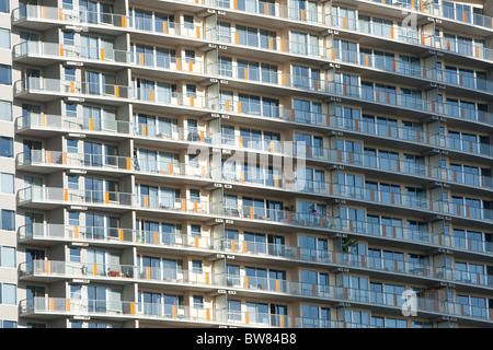 Close-up of newly constructed high-res apartment homes in Austin, Texas - Stock Photo