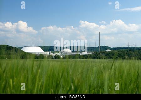 Neckarwestheim nuclear power plant, Kirchheim am Neckar, Germany - Stock Photo