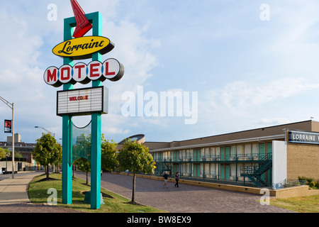 The Lorraine Motel, site of Martin Luther King Jr assassination, National Civil Rights Museum, Memphis, Tennesse, USA Stock Photo