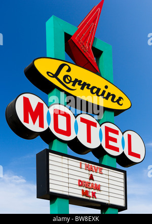 The Lorraine Motel, site of Martin Luther King Jr assassination, National Civil Rights Museum, Memphis, Tennesse, USA