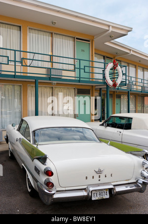 Room 306 at the Lorraine Motel, site of Martin Luther King Jr's assassination, National Civil Rights Museum, Memphis, - Stock Photo