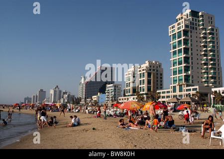 Jerusalem Beach in Tel Aviv, Israel - Stock Photo