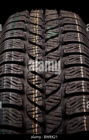 New car tire close up - Stock Photo
