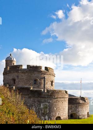 St Mawes Castle Cornwall England - Stock Photo