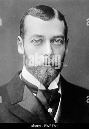 Portrait photo circa 1893 of George V (1865 - 1936) - King of the United Kingdom from May 6 1910 until his death - Stock Photo