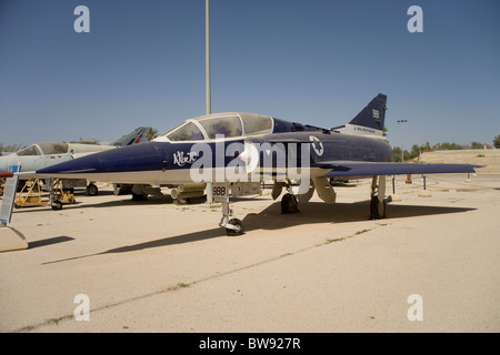 Dassault Mirage 111BJ fighter at the Israeli Air Force Museum at Hazerim on the outskirts of Beersheva ( Beersheba) - Stock Photo