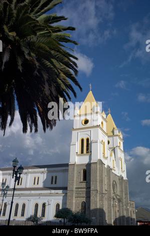 Cathedral on Plaza de Armas, Guaranda, Ecuador - Stock Photo