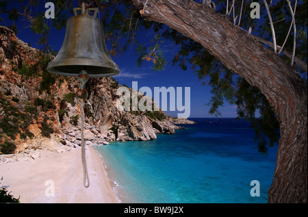 Kira Panagia beach in Karpathos island - Stock Photo
