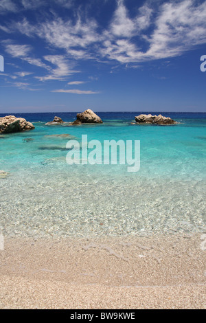 Apella beach in Karpathos island, Greece - Stock Photo