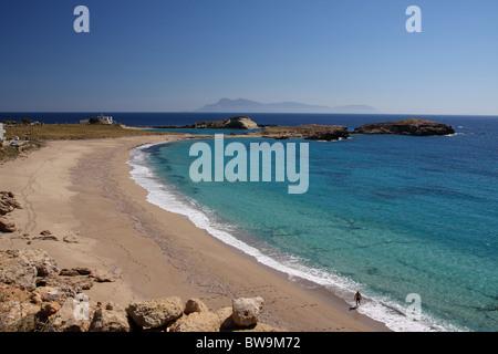 Lefkos beach in Karpathos - Stock Photo