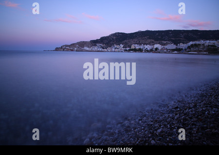 Pigadia port in Karpathos island. - Stock Photo