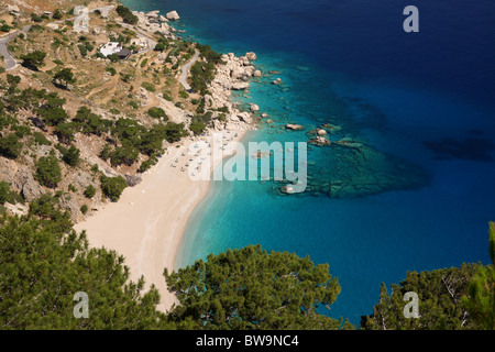 Apella beach in Karpathos island, Greece - Stock Photo