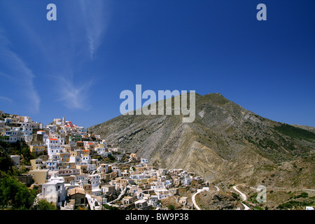 Olympos mountainous village in Karpathos island, Aegean sea, Greece - Stock Photo