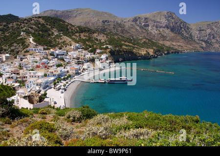 Diafani Karpathos' port - Stock Photo