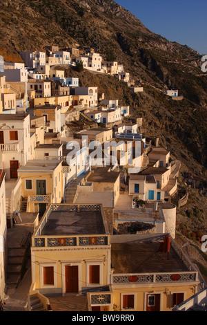Olympos mountainous village in Karpathos island, Aegean sea, Greece - Stock Photo