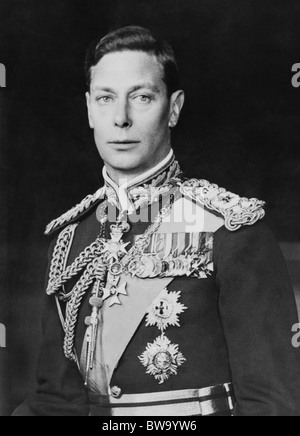 Portrait photo c1940s of George VI (1895 - 1952) - King of the United Kingdom from December 11 1936 until his death - Stock Photo
