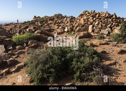 Fuerteventura, Canary Islands - Degollada de Los Granadillos roadside mirador viewpoint - Stock Photo