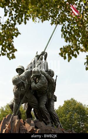 Marine corps war memorial, Arlington, Virginia, USA - Stock Photo