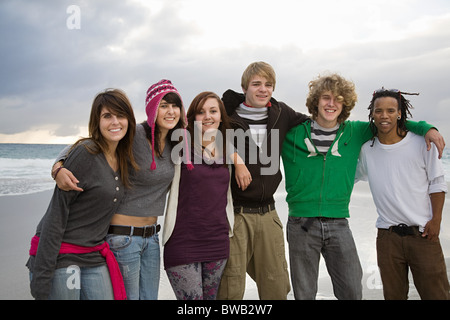 Group of young friends, portrait - Stock Photo