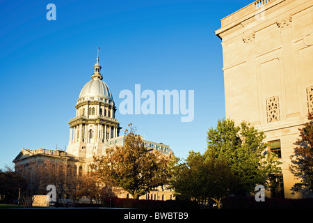 Springfield, Illinois - fall by State Capitol. State Capitol complex. - Stock Photo
