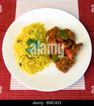 Indian Food Beef Jalfrezi