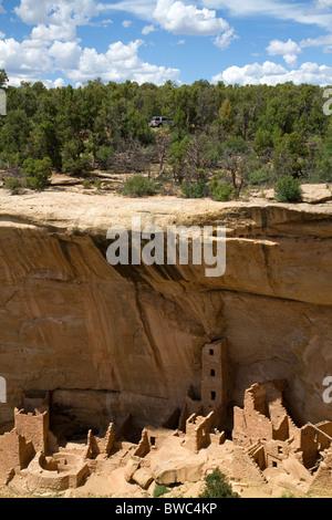 Mesa Verde National Park located in Montezuma County, Colorado, USA. - Stock Photo