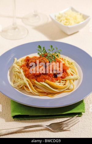 Spaghetti with meatballs. Step by step: PP43C5-PP43E8-PP43FK-PP43H7 - Stock Photo