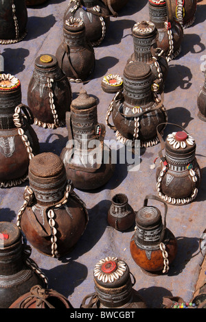 Tribal Gourds For Sale At The Key Afer Market, Omo Valley, Ethiopia - Stock Photo