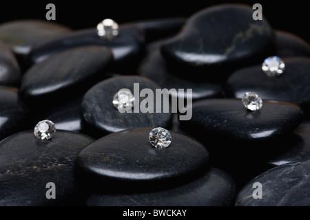 USA, Illinois, Metamora, Diamonds on gem stones - Stock Photo