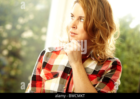Concerned looking woman